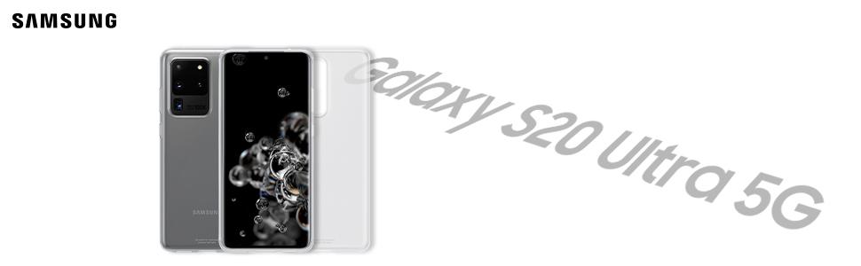 Samsung Clear Cover Smartphone Cover Ef Qg988 Für Galaxy S20 Ultra Handy Hülle Extra Dünn Und Griffig Schutz Case Durchsichtig Transparent Elektronik