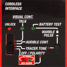 cable tracer with cordlesss phone interface