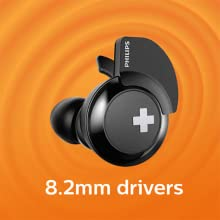 Philips BASS+ SHB4385BK big bass 8.2mm drivers