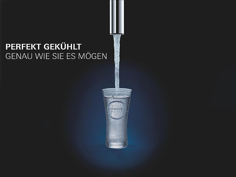 Side By Side Kühlschrank Sprudelwasser : Grohe blue home duo küchenarmatur 2 in 1 trinkwassersystem und