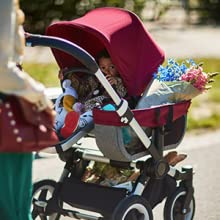 Bugaboo, donkey, stroller, expanding, double, safe, reversible, adjustable, comfortable, compact