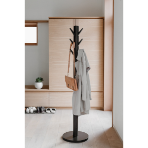 Amazon Com Umbra 320361 918 Flapper Coat Rack Clothing Hanger Umbrella Holder And Hat Organizer For Entryway Grey 22 5 Diameter X 65 Inches Home Kitchen