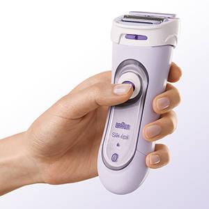 Braun Silk-epil 5-560 3-In-1 Kabelloser Elektrischer Rasierer, Trimmer- und Peeling-System, lila