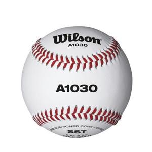 Wilson WTA1030B Pelota de béisbol A1030 Cuero con Costuras Rojas ...