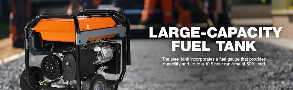 Generac, GP6500, Portable, Generator, Fuel Tank, Capacity