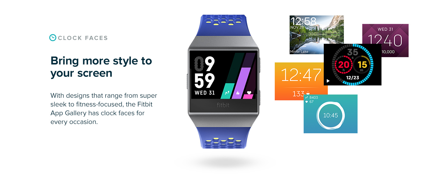 Fitbit Ionic Health & Fitness Smartwatch (GPS) with Heart Rate, Swim  Tracking & Music - Black (Charcoal)/Smoke Grey