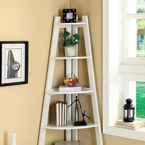 Furniture of america andrea 5 tier corner for Amazon small bookshelf