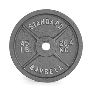 Single Renewed CAP Barbell Olympic 2-Inch Weight Plate Gray