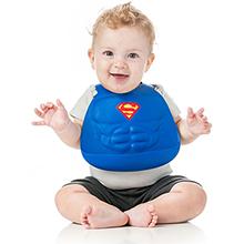 superman silicone bib