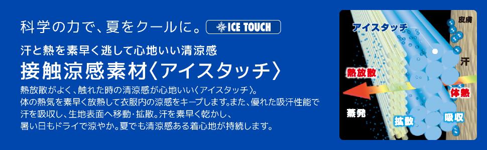 ドライ 吸汗速乾 さらさら インナー アンダー 接触涼感 冷感