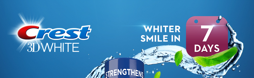 Crest 3D White Glamorous White Multi-Care Whitening Mouthwash gives whiter smile in 7 days