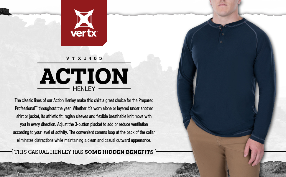 vertx, henley, shirt, concealed carry, casual