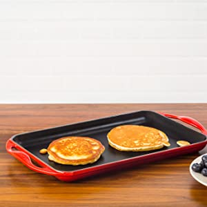 Griddle shown in Cerise