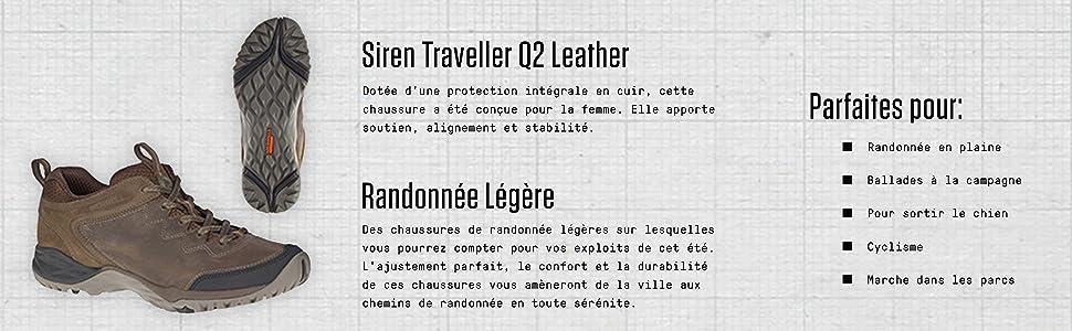 Merrell Siren Traveller Q2 Ltr Chaussures De Randonnée Basses Femme