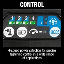 control four speed power selection for precise fastening control wide range applications