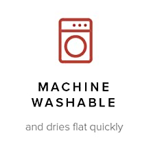 machine washable and dries flat quickly