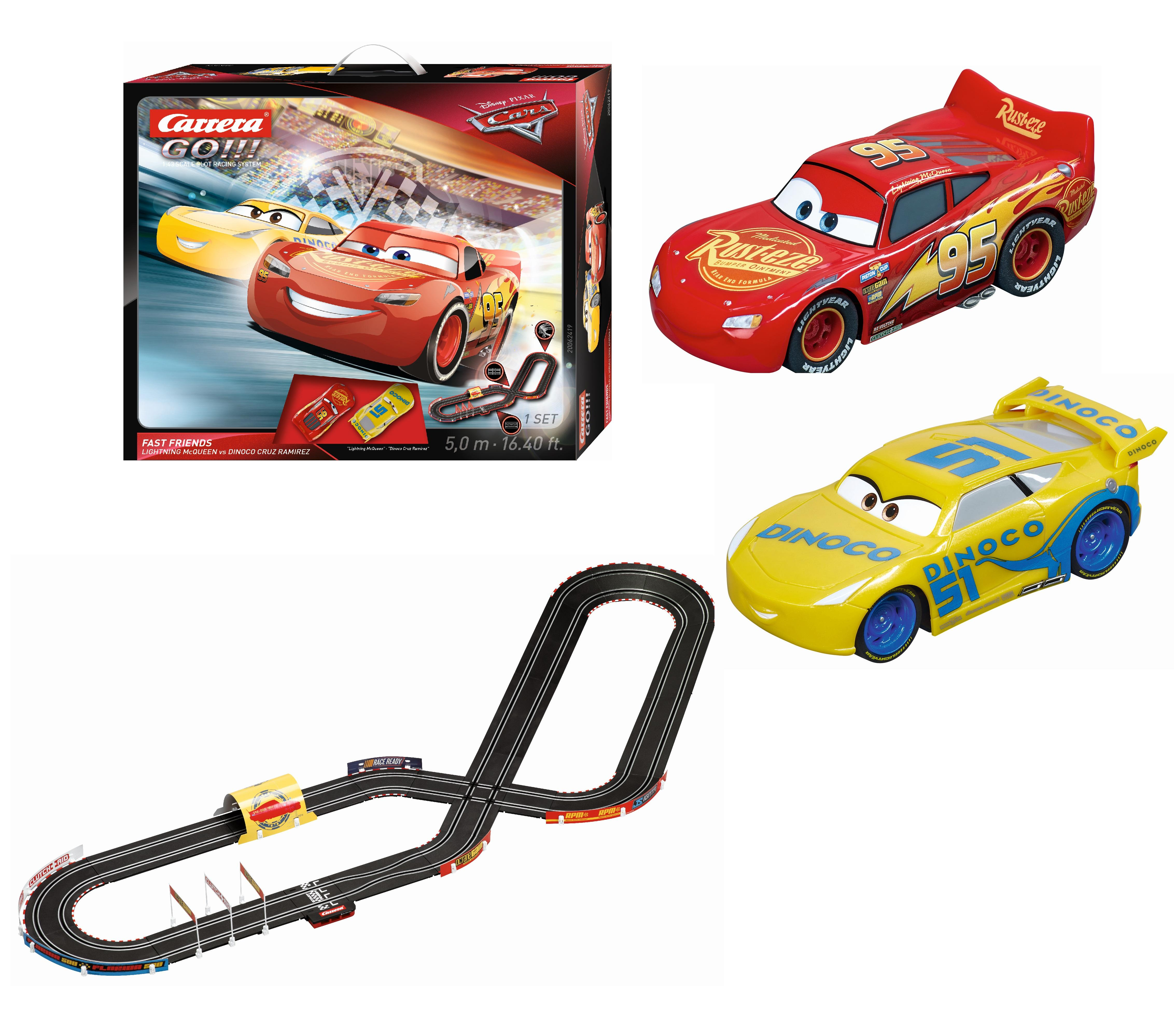 carrera 62419 go disney pixar cars 3 fast friends slot car race set race tracks amazon canada. Black Bedroom Furniture Sets. Home Design Ideas