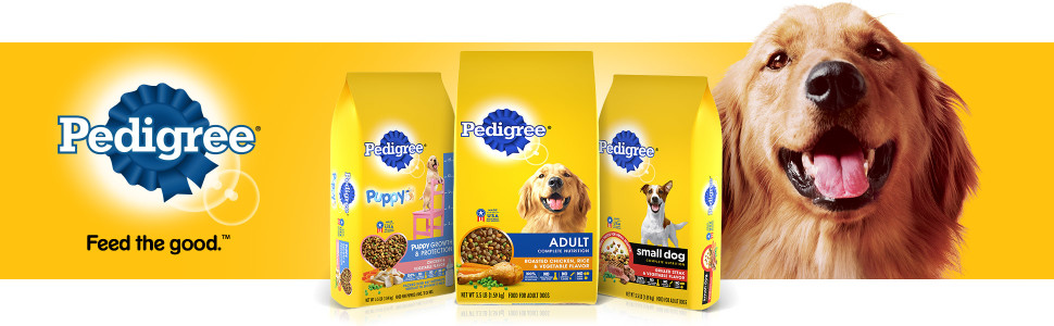 Pedigree Dry Dog Food, Feed the Good, Kibble, Crunchy, Hard, Large Bag, Small Bag, Bagged, Active