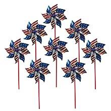 pinwheels;pinwheel;pin wheel;hand spinner;mylar pinwheel;party favors;stars and stripes;patriotic