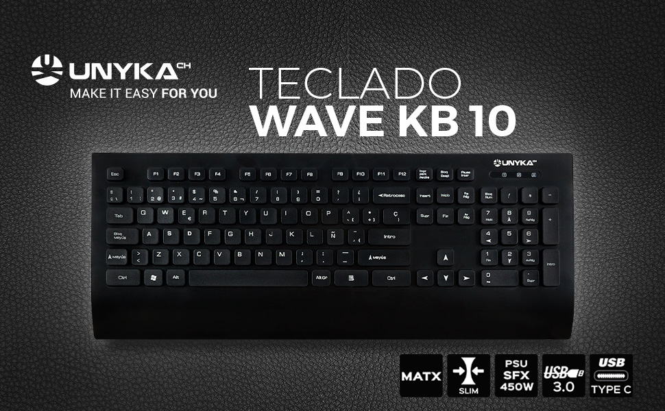 Unykach Wave KB 10 Teclado: Amazon.es: Informática