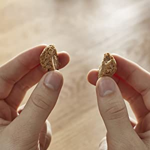 Break them into bite-sized pieces for smaller dogs and puppies