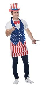 Uncle Sam, Independence Day, 4th of July, Fourth of July, Lady Liberty, Apron, BBQ, War of 1812