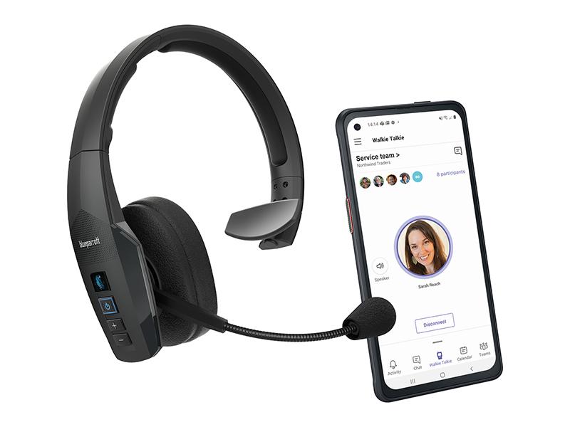 Jabra Blueparrott B450 Xt Bluetooth Headset Over Ear Headset Mit 96 Noise Cancelling Und Voicecontrol Ms Teams Zertifiziert Schwarz Elektronik