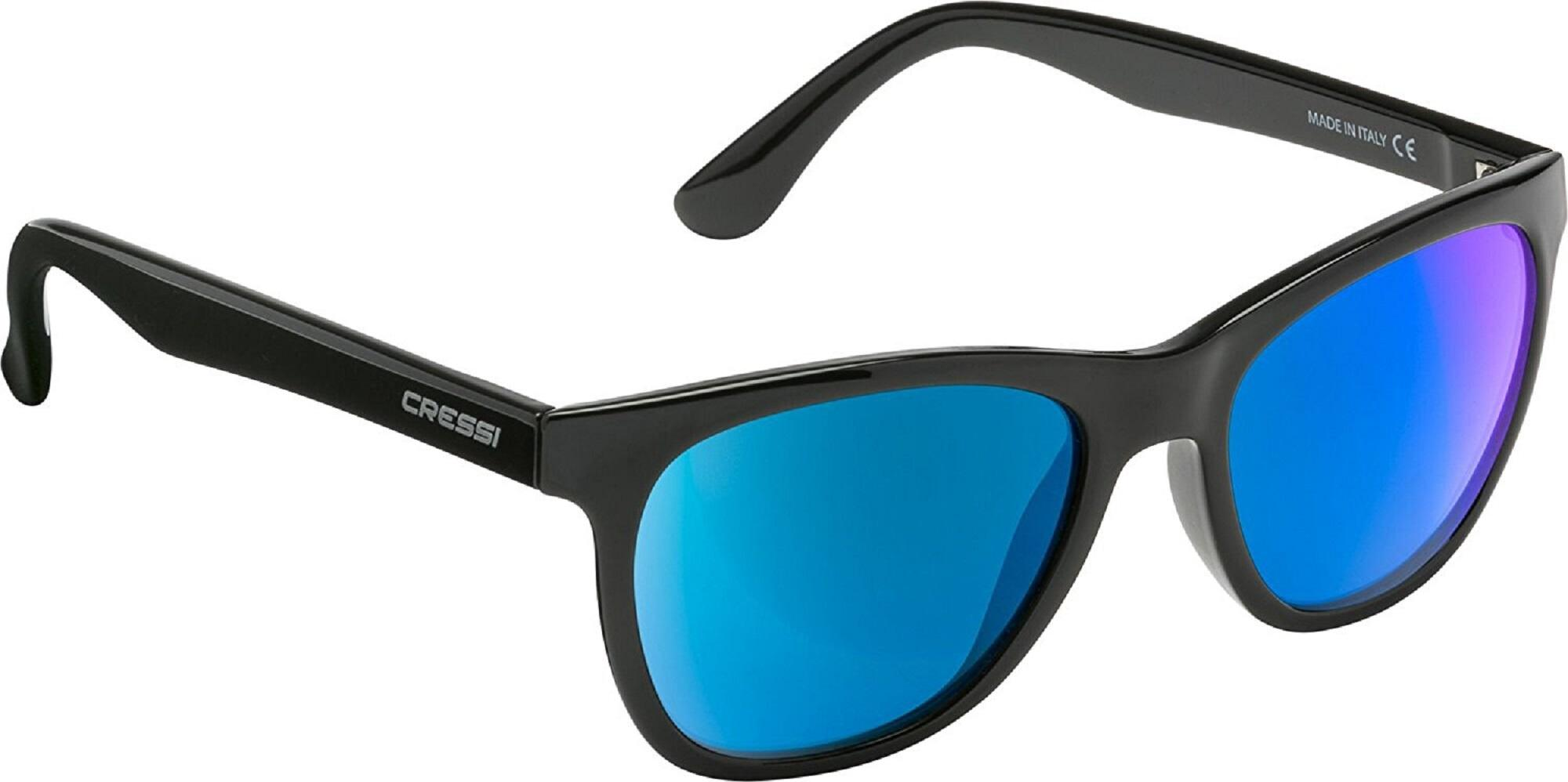 Cressi Apollo Sonnenbrille, Schwarz/Linsen Grün, Uni