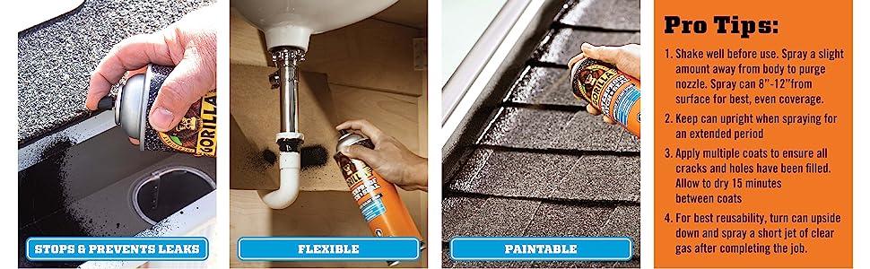 undercoating flex flexseal products rust brillo para globos leak sealer caulk crack patch shower tub