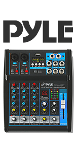 Professional Audio Mixer Sound Board Console Desk System Interface 8 Channel Digital USB Bluetooth