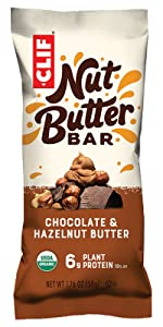 CLIF NUT BUTTER FILLED BAR ENERGY BAR USDA ORGANIC CLIF BAR HAZELNUT BUTTER