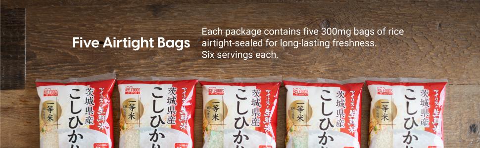 Airtight bags, Fresh, clean, easy, quick, long lasting freshness, Koshihikari, Milky Queen