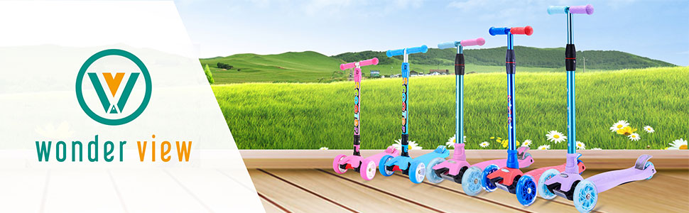 Amazon.com: WonderView patinete para niños de 3 ruedas, 4 ...