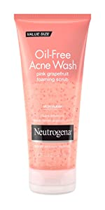 Neutrogena Oil Free Pink Grapefruit Acne Foaming Face Scrub with Vitamin C and Salicylic Acid