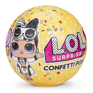 LOL surprise confetti pop boule jaune poupée unboxing déballer collection jouet fille