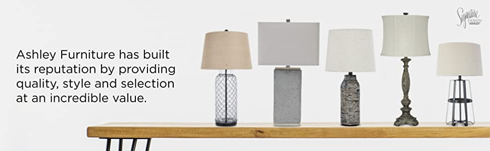 table, lamp