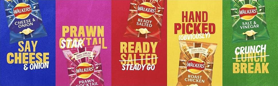 walkers crisps range snacks multipacks