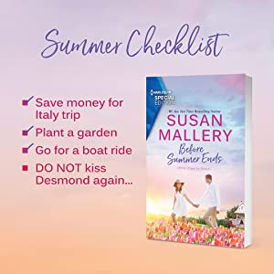 Before Summer Ends cover: Summer checklist: Save money for Italy trip but DO NOT kiss Desmond again