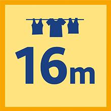 Longueur : 16 m