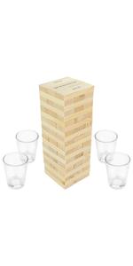 Fairly Odd Novelties Dunken Blocks Shot Glass Drinking Game