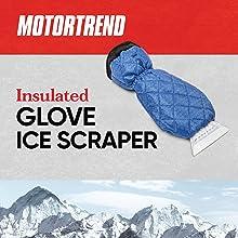 ice scraper winter snow brush ergonomic insulated warm glove keep hands warm remove snow holiday