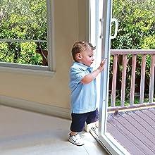 child safety baby window door