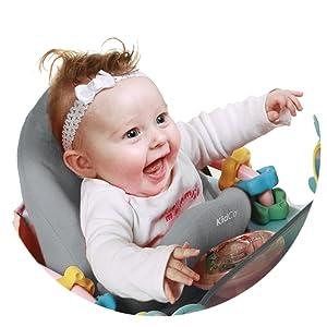 Gray KidCo Huggapod Infant Seat Cushion Support