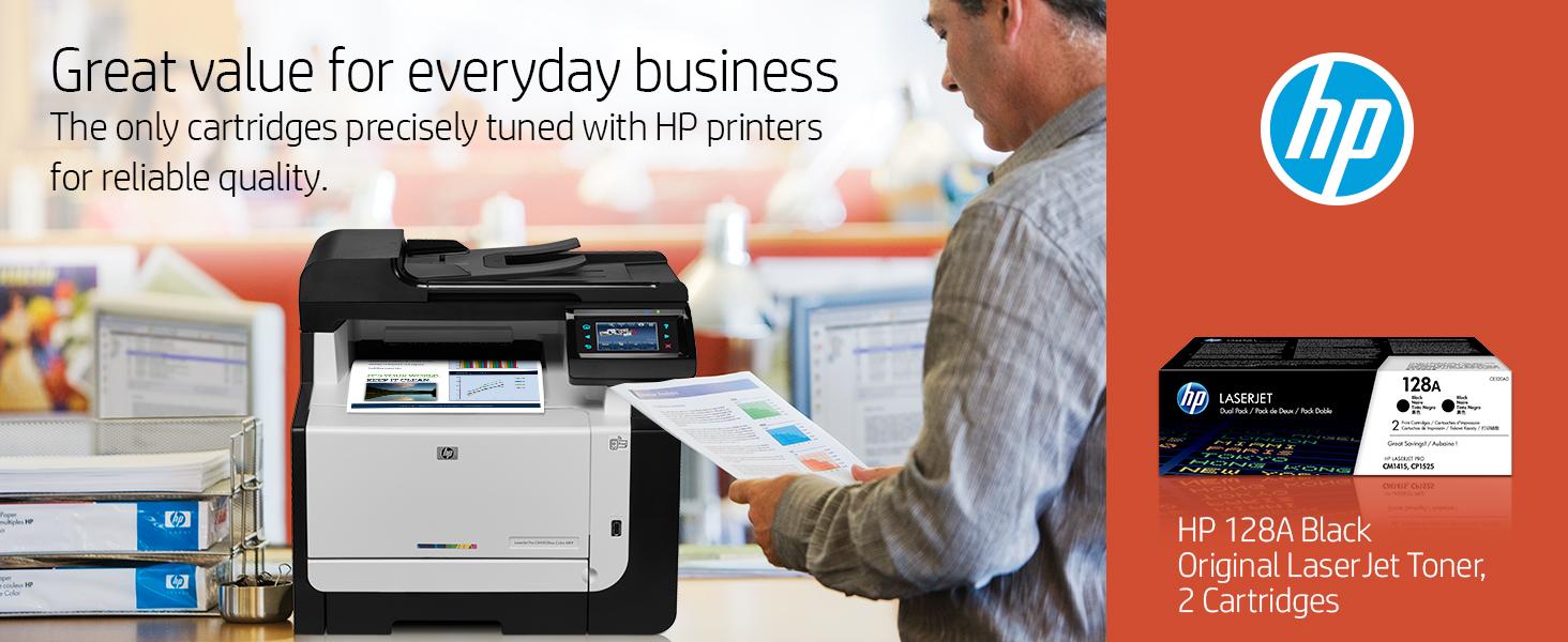 Amazon.com: HP 128 A (CE320AD) Black Original LaserJet ...