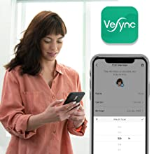 Set goals, create passwords, and choose from multiple languages on VeSync.