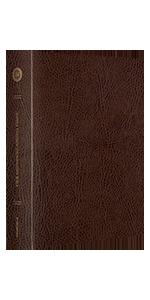 ESV Single Column Journaling Bible, Large Print, Bonded Leather, Mocha