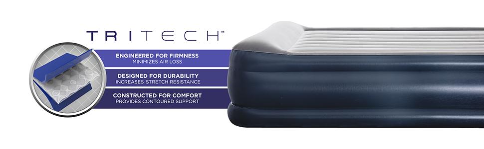 Amazon.com: Bestway TriTech Queen - Colchón hinchable de ...