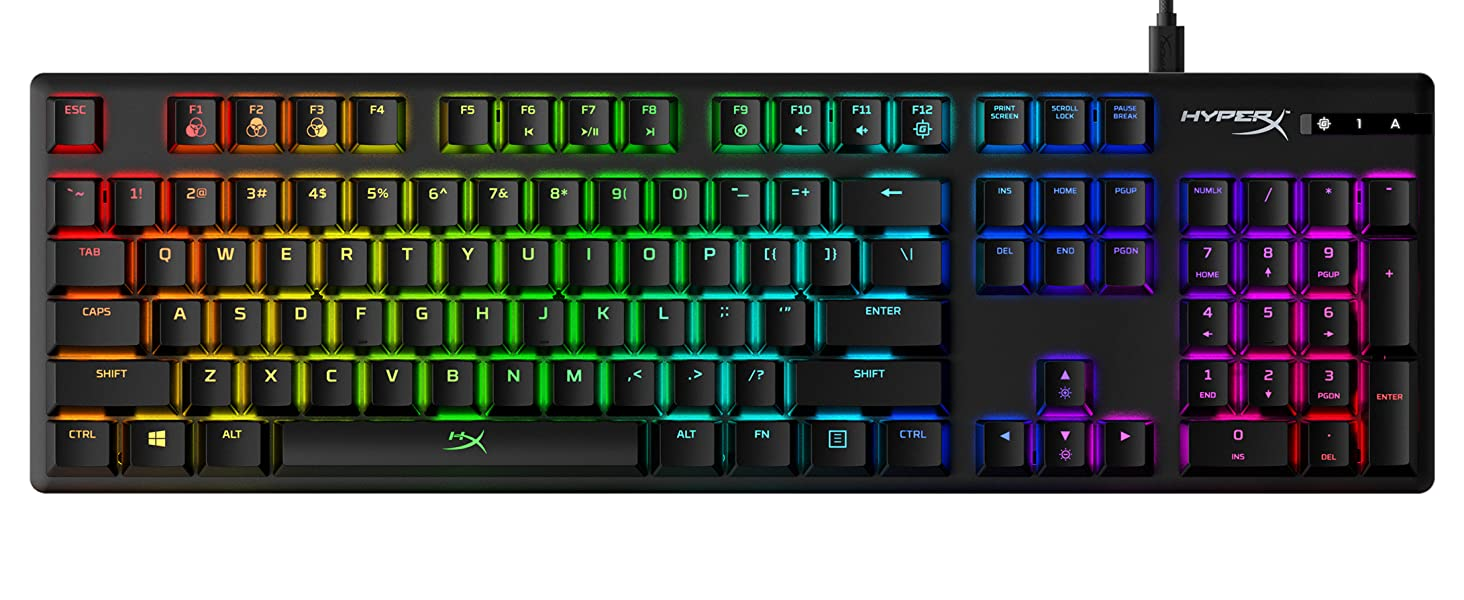 Amazon.com: HyperX Alloy Origins - Mechanical Gaming Keyboard ...