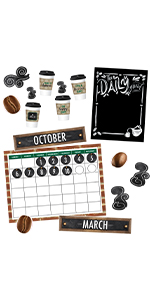 Stay on schedule and help students remember important days with a calendar bulletin board