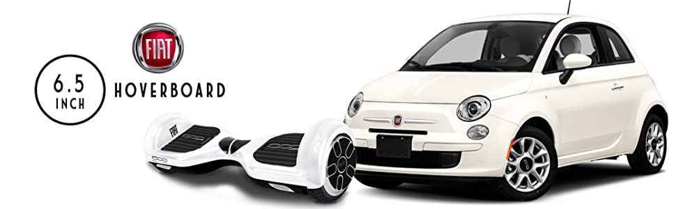 FIAT500 F500-H65W/Wh Hoverboard, Adultos Unisex, Blanco ...